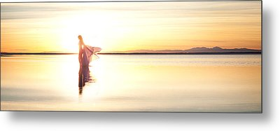 Metal Print featuring the photograph Sun Goddess Pano by Dario Infini