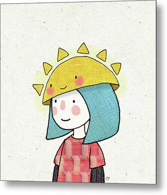 Sun Hat Metal Print by Carolina Parada