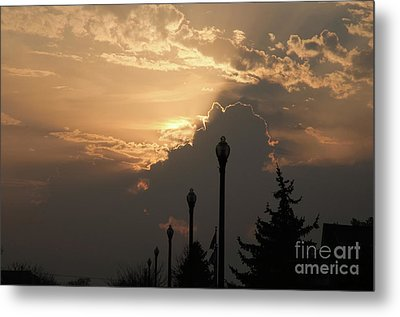 Sun In A Cloud Of Glory Metal Print by Andee Design
