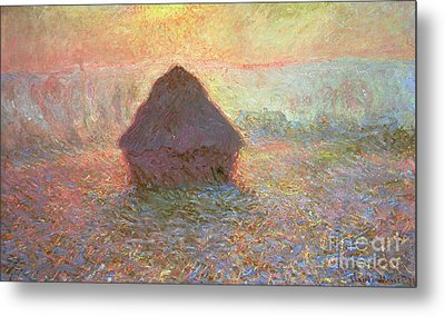 Sun In The Mist Metal Print by Claude Monet