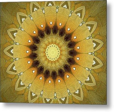 Sun Kaleidoscope Metal Print