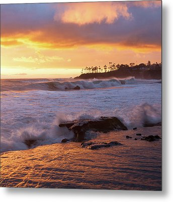 Metal Print featuring the photograph Sun Kissed Coast by Cliff Wassmann