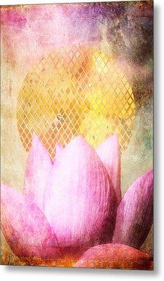 Sun Lotus Metal Print