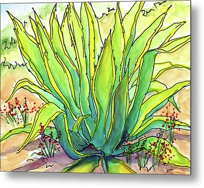 Sun Lover Metal Print by Nancy Matus