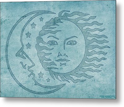 Sun Moon And Stars Metal Print