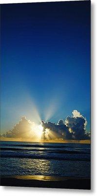 Sun Ray Sunrise Metal Print