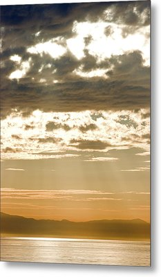 Sun Rays And Clouds Over Santa Cruz Metal Print by Rich Reid