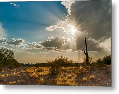 Metal Print featuring the photograph Sun Rays In Tucson by Dan McManus