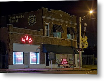 Sun Records Studio The Birthplace Metal Print by Everett
