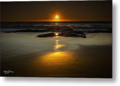 Sun Reflection Metal Print