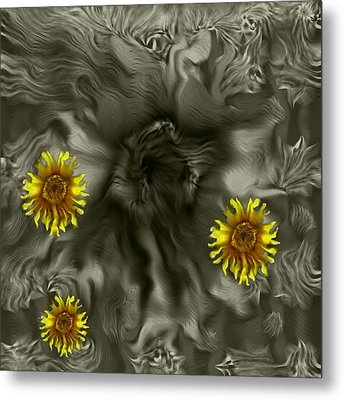 Sun Roses In The Deep Dark Forest Metal Print