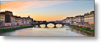 Sun Sets On Florence Metal Print by Frozen in Time Fine Art Photography
