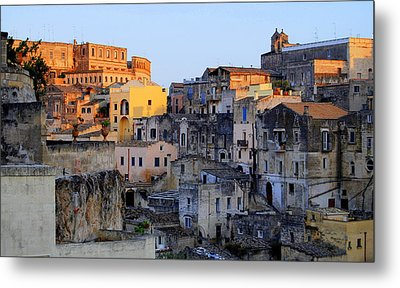 Sun Setting Over Sassi Metal Print