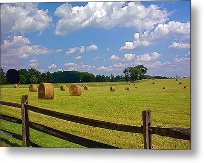 Metal Print featuring the photograph Sun Shone Hay Made by Byron Varvarigos