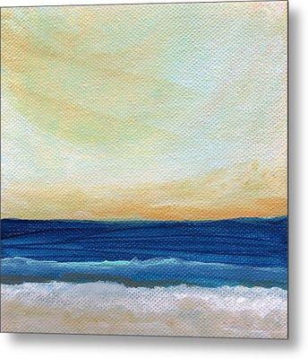 Sun Swept Coast- Abstract Seascape Metal Print by Linda Woods