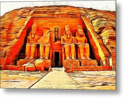 Sun Temple Of Abu Simbel - Da Metal Print by Leonardo Digenio