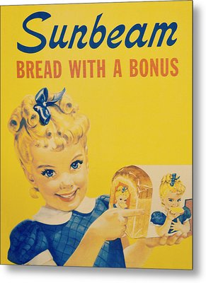 Sunbeam Girl Metal Print