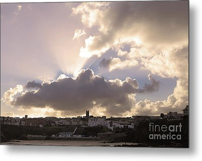 Metal Print featuring the photograph Sunbeams Over Church In Color by Nicholas Burningham