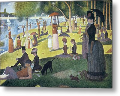 Sunday Afternoon On The Island Of La Grande Jatte Metal Print by Georges Seurat