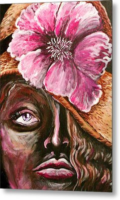 Sunday Hat Metal Print by Yvonne Blasy