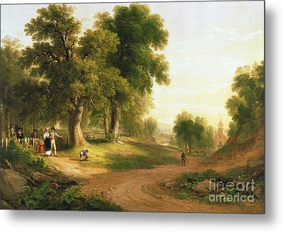 Sunday Morning Metal Print by Asher Brown Durand