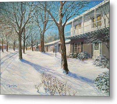 Sunday Morning Snow Metal Print by Edward Farber
