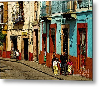 Sunday Morning Stroll Metal Print by Mexicolors Art Photography