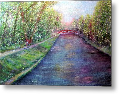 Sunday On The Towpath Metal Print
