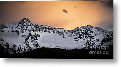 Metal Print featuring the photograph Sundown At Sneffels Range by The Forests Edge Photography - Diane Sandoval