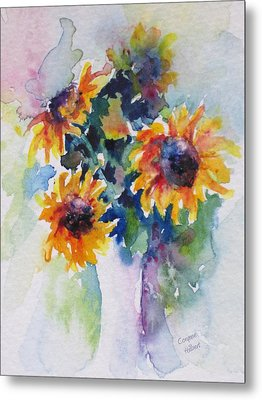 Sunflower Bouquet Metal Print by Corynne Hilbert