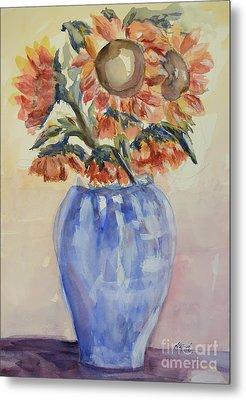 Sunflower Bouquet Metal Print by Heather Kertzer