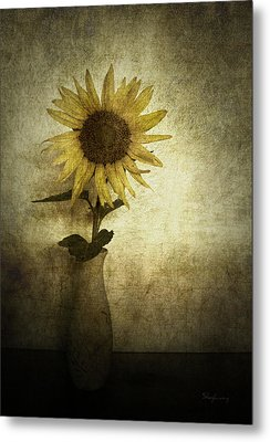 Sunflower Metal Print by Cynthia Lassiter