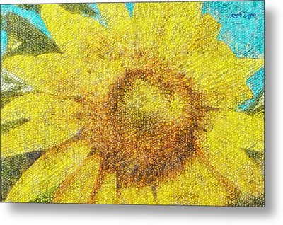 Sunflower - Da Metal Print by Leonardo Digenio