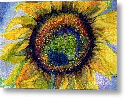Sunflower  Emergence Metal Print