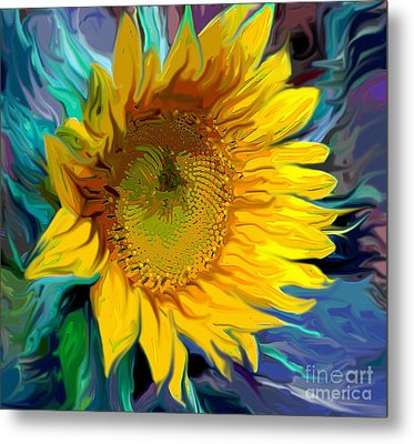 Sunflower For Van Gogh Metal Print by Jeanne Forsythe