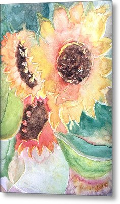 Sunflower Glory Metal Print by Renate Nadi Wesley
