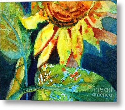 Sunflower Head 4 Metal Print by Kathy Braud