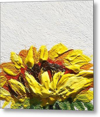Sunflower Metal Print by Irina Sztukowski