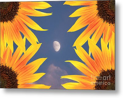 Sunflower Moon Metal Print