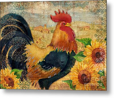Sunflower Roost Metal Print by Paul Brent