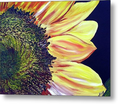 Sunflower Single Metal Print by Maria Soto Robbins
