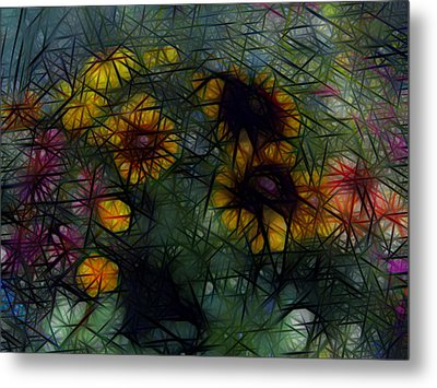 Sunflower Streaks Metal Print by Carol Crisafi