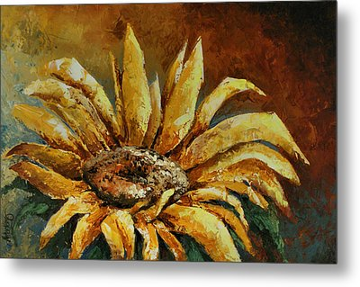 Sunflower Study Metal Print by Michael Lang