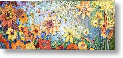 Sunflower Tropics Metal Print