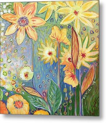 Sunflower Tropics Part 3 Metal Print by Jennifer Lommers