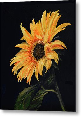 Sunflower Vii Metal Print by Sandra Nardone