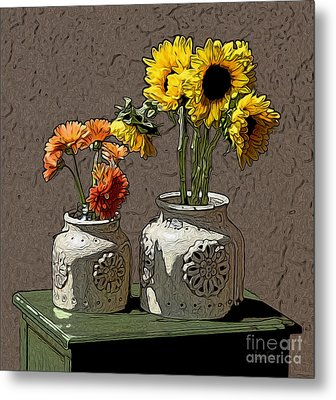 Sunflowers Metal Print by Anthony Forster