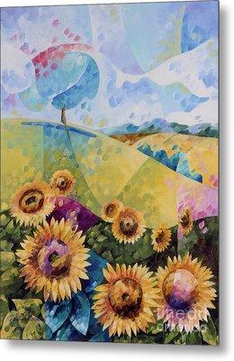Sunflowers Metal Print by Beatrice BEDEUR