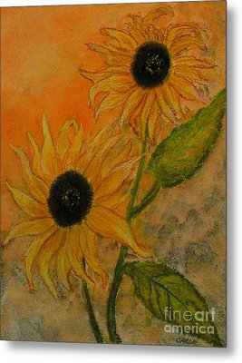 Sunflowers Metal Print by Carla Stein