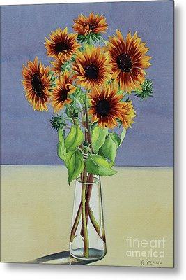 Sunflowers Metal Print by Christopher Ryland